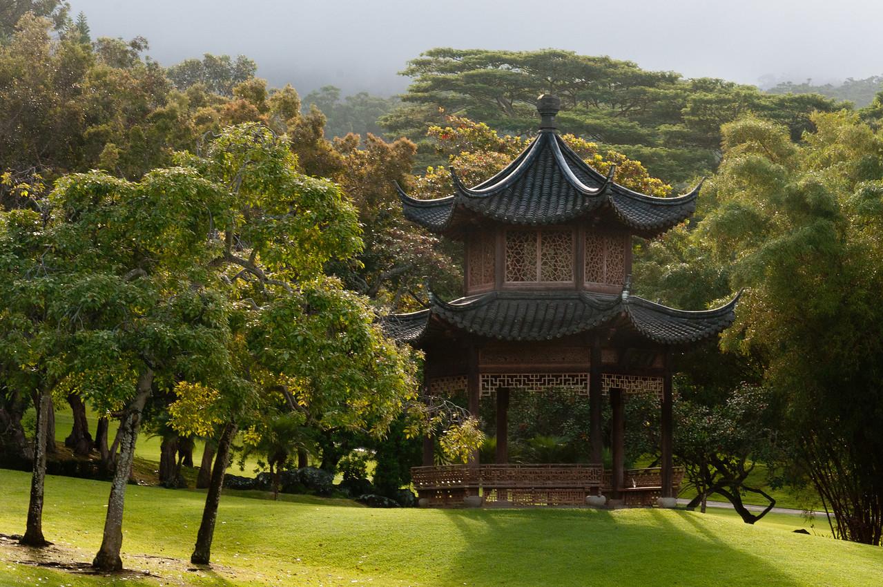 Japanese temple in Four Seasons Resort, Lanai, Hawaii