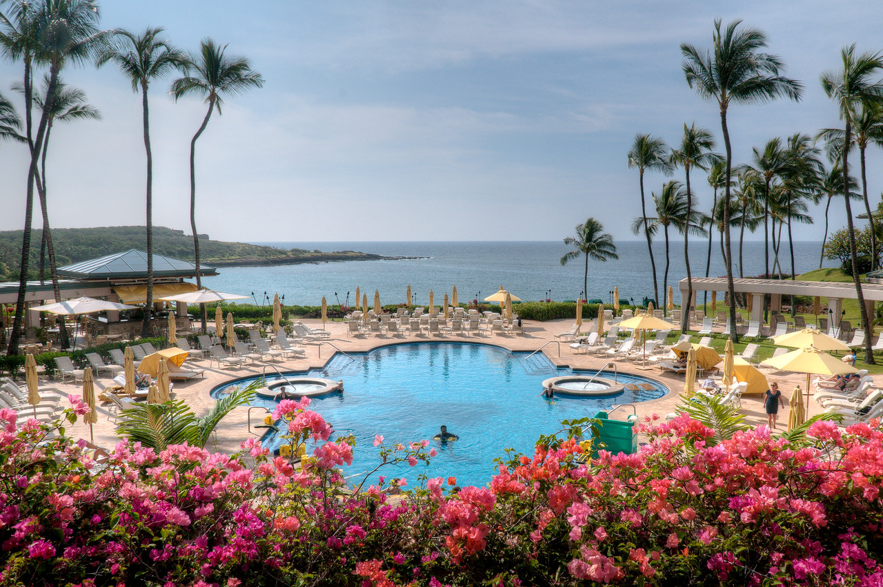 Swimming pool at the Four Seasons Resort in Lanai, Hawaii