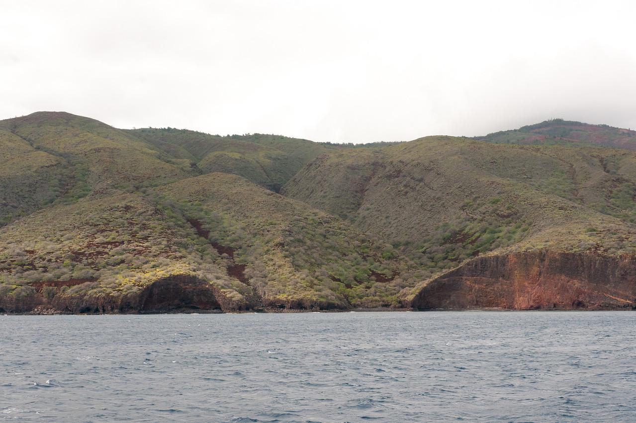 Cliffs along the coast of Lanai, Hawaii