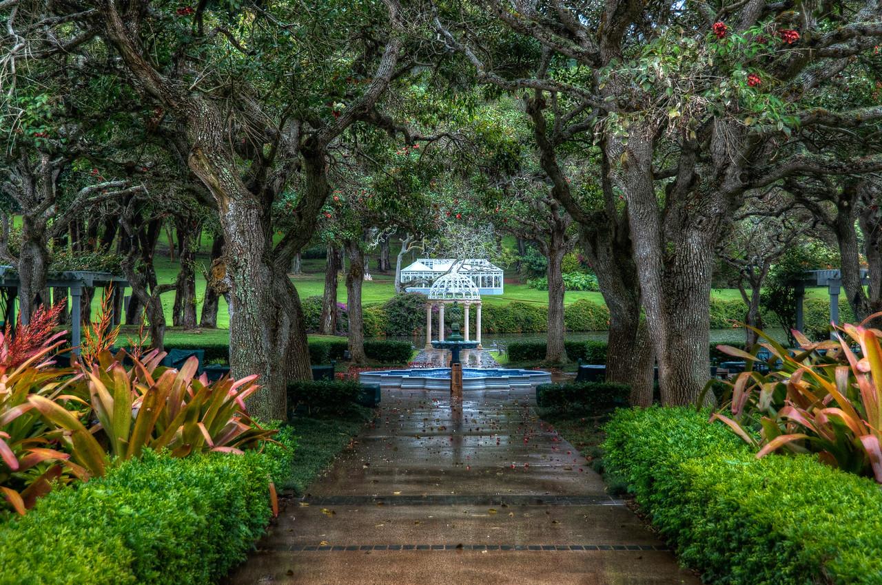 Fountain at the Four Seasons Resort in Lanai, Hawaii