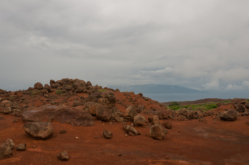 Red sand in Lanai, Hawaii