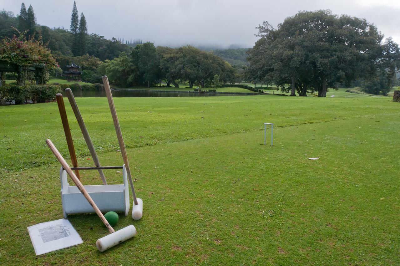 Open playing field in Lanai, Hawaii