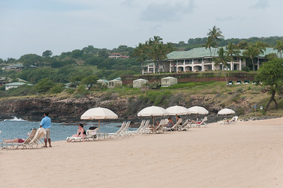 Relaxing on the beach - Lanai, Hawaii