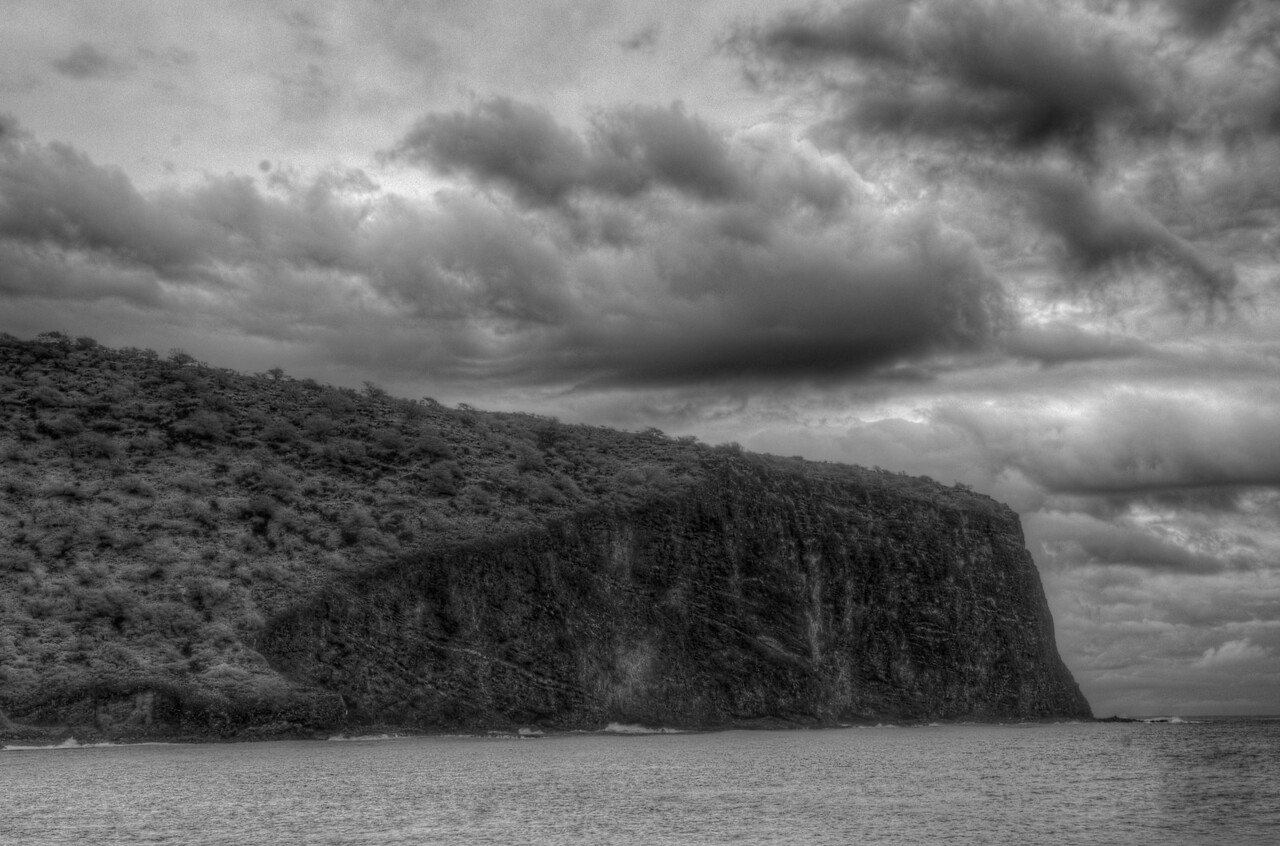 The coastal cliffs of Lanai, Hawaii