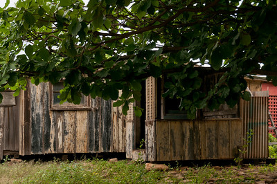 Abandoned buildings in Lanai, Hawaii