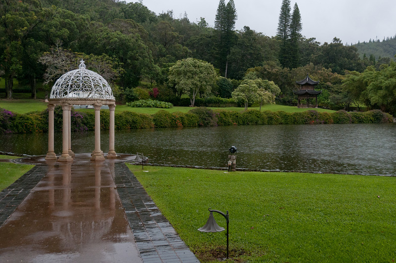 Garden at the Four Seasons Resort in Lanai, Hawaii