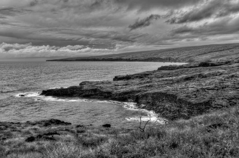 The coastal cliffs of Lanai, Hawaii