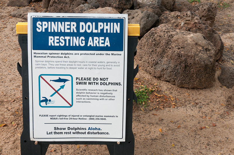 Warning sign in Lanai, Hawaii
