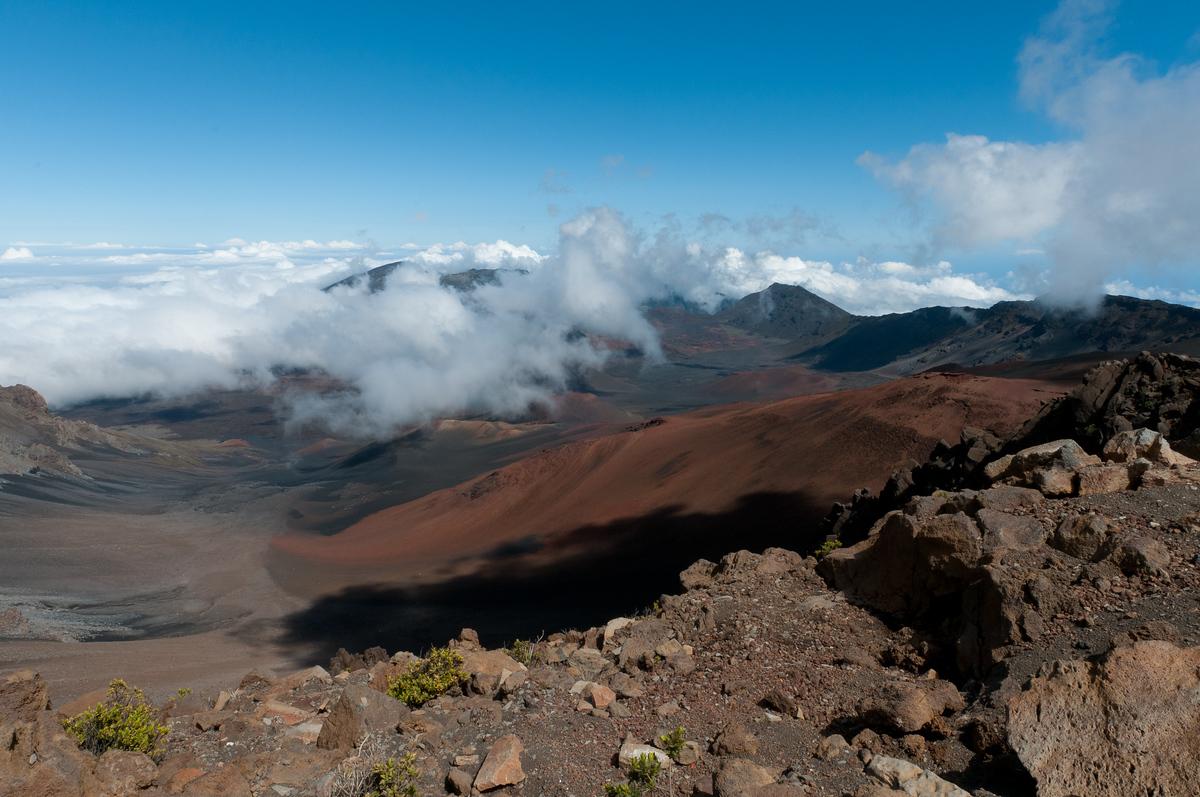 Inside the Haleakala Crater on the island of Maui, Hawaii