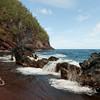 Red Sand Beach in Hana on the                                     island of Maui, Hawaii