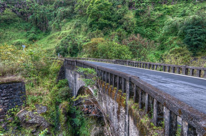 A bridge on the Hana Hightway on the island of Maui