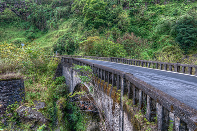 A bridge on the Hana Hightway on the island of Maui