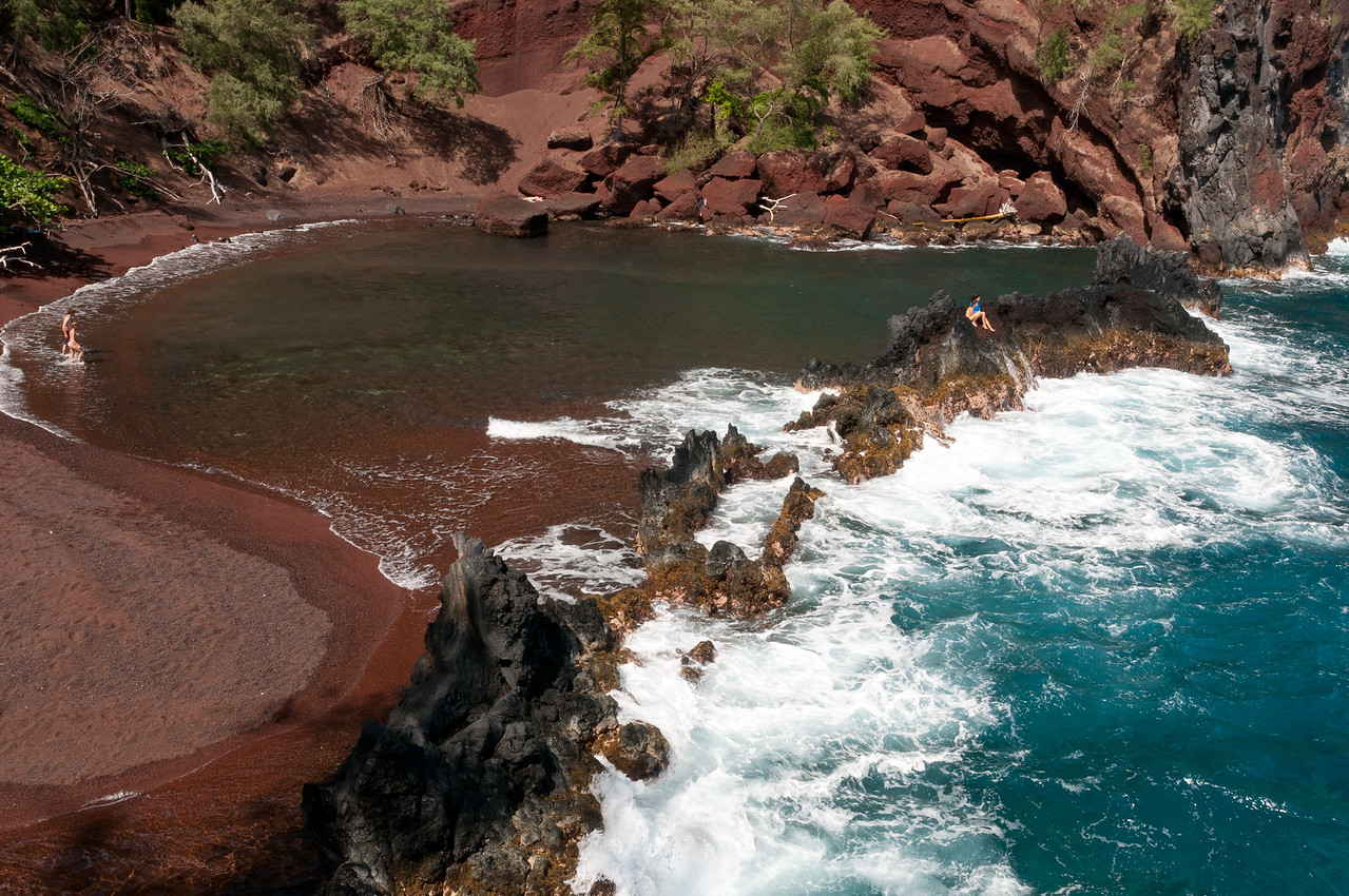 Red sand beach in Maui, Hawaii