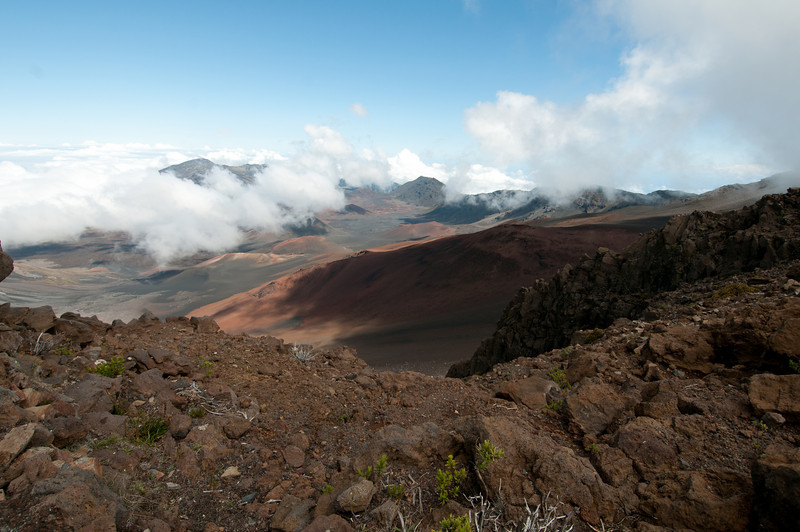 Inside Haleakala Crater, Maui, Hawaii