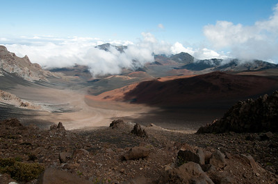 Inside Haleakala Crater, Maui, Hawaii