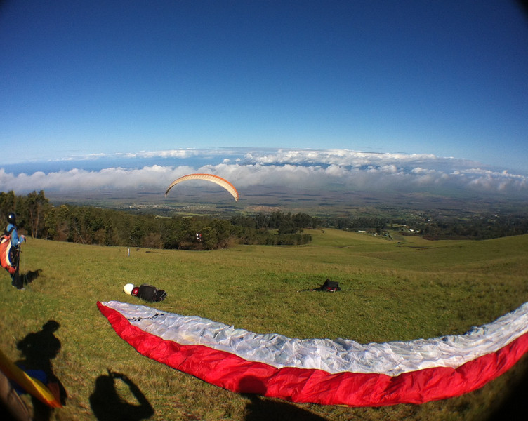 Paragliding at Kula