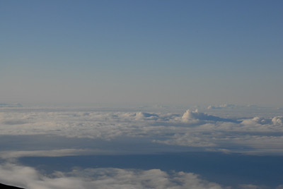 Mauna Loa seen from the summit of Mauna Kea, Hawaii