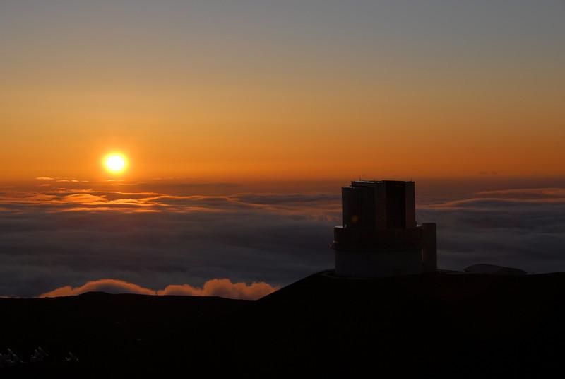 Sunset in Mauna Kea, Hawaii