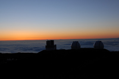 Keck telescopes on top of Mauna Kea, Hawaii