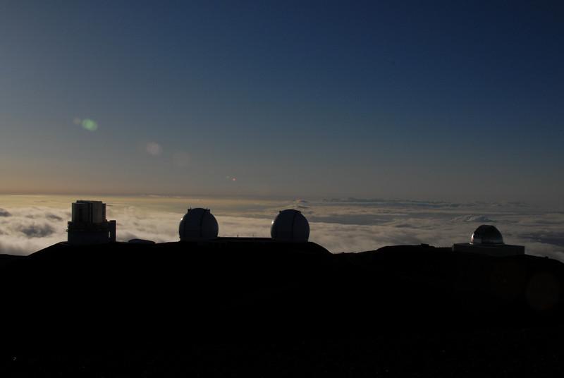Telescopes on top of Mauna Kea, Hawaii