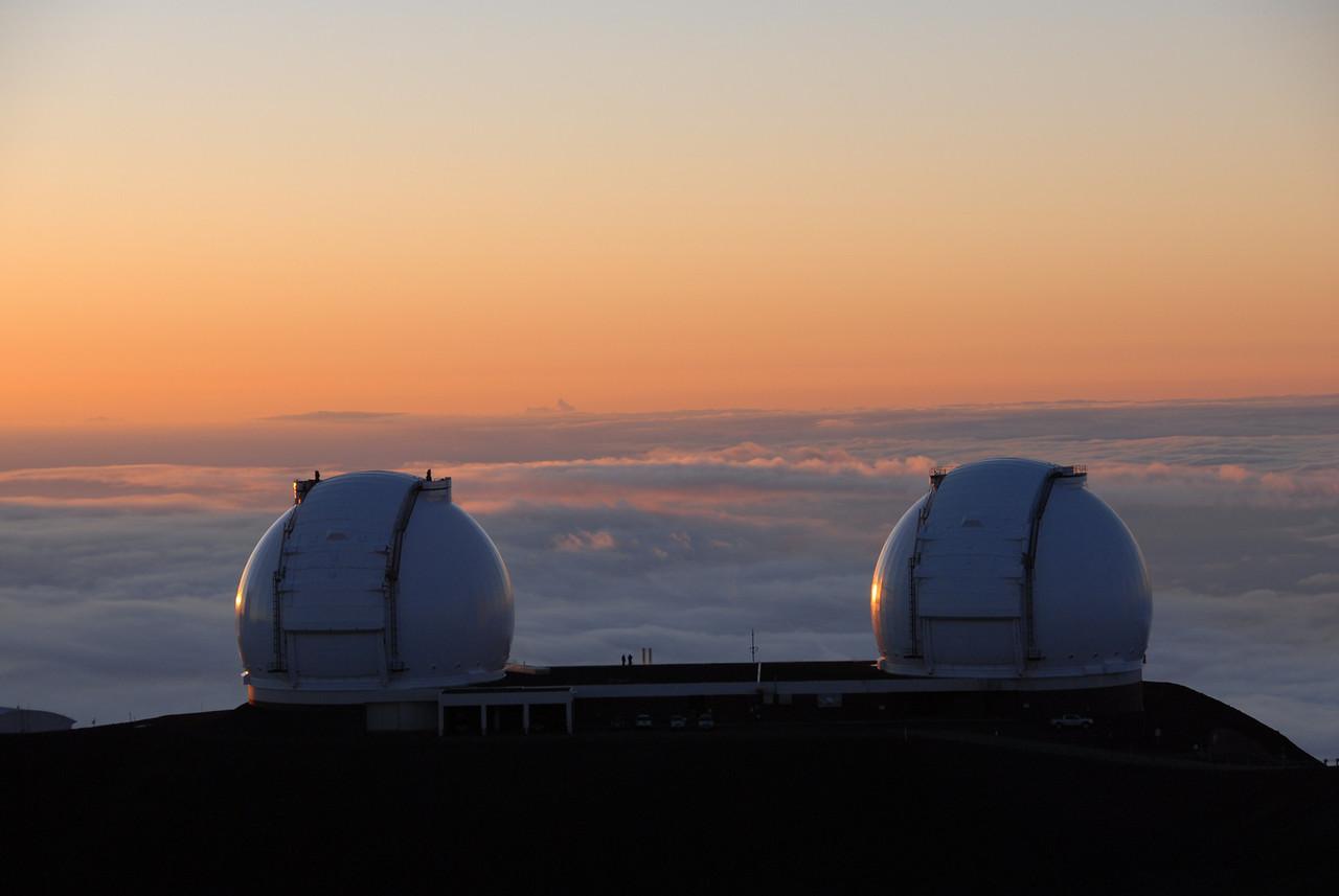Keck telescopes in Mauna Kea, Hawaii