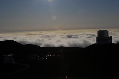 View from the summit of Mauna Kea, Hawaii