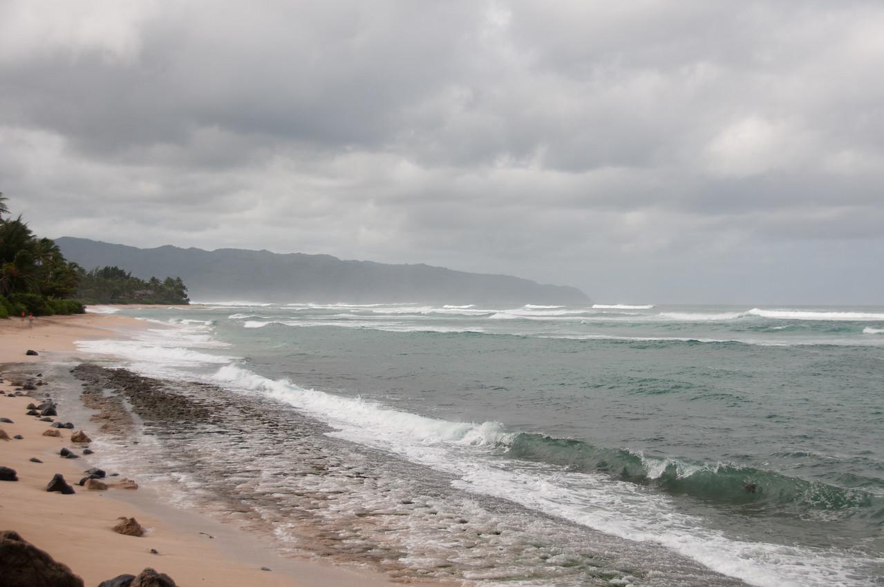 Empty beach in Oahu, Hawaii
