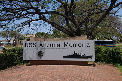 USS Arizona Memorial Sign - Pearl Harbor, Hawaii