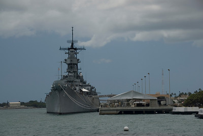USS Missouri in Pearl Harbor, Hawaii