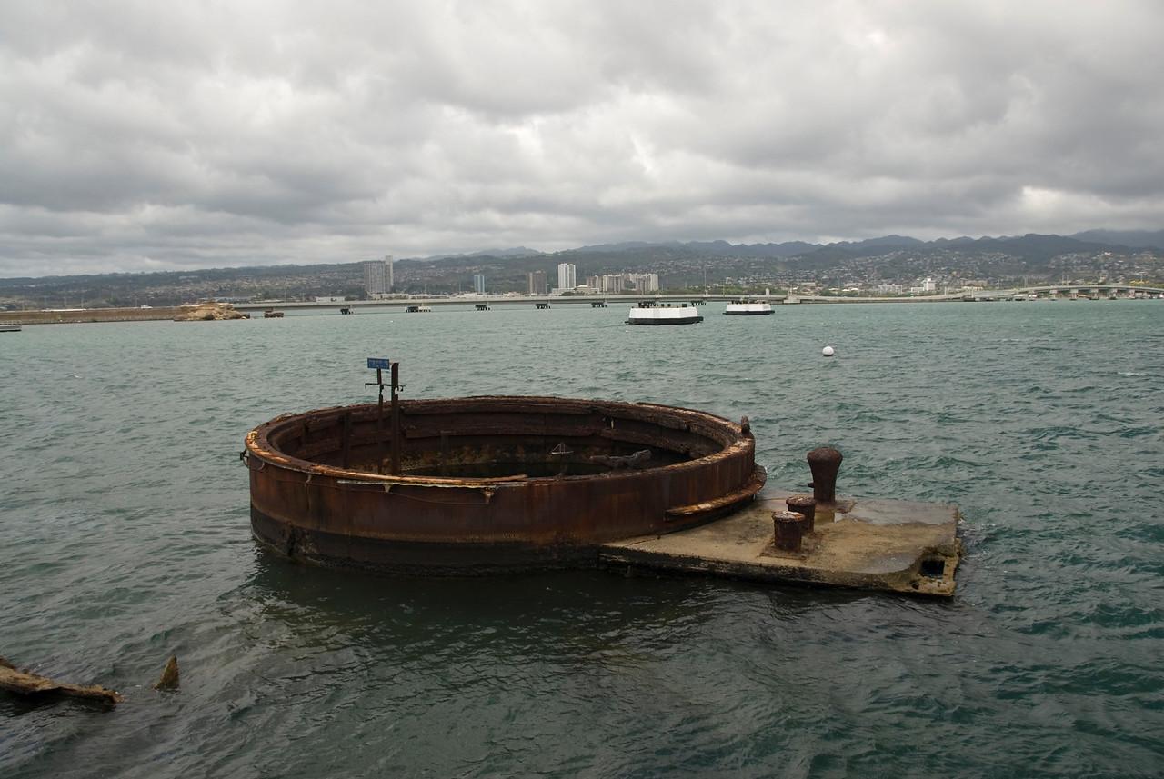 USS Arizona Tower in Pearl Harbor, Hawaii