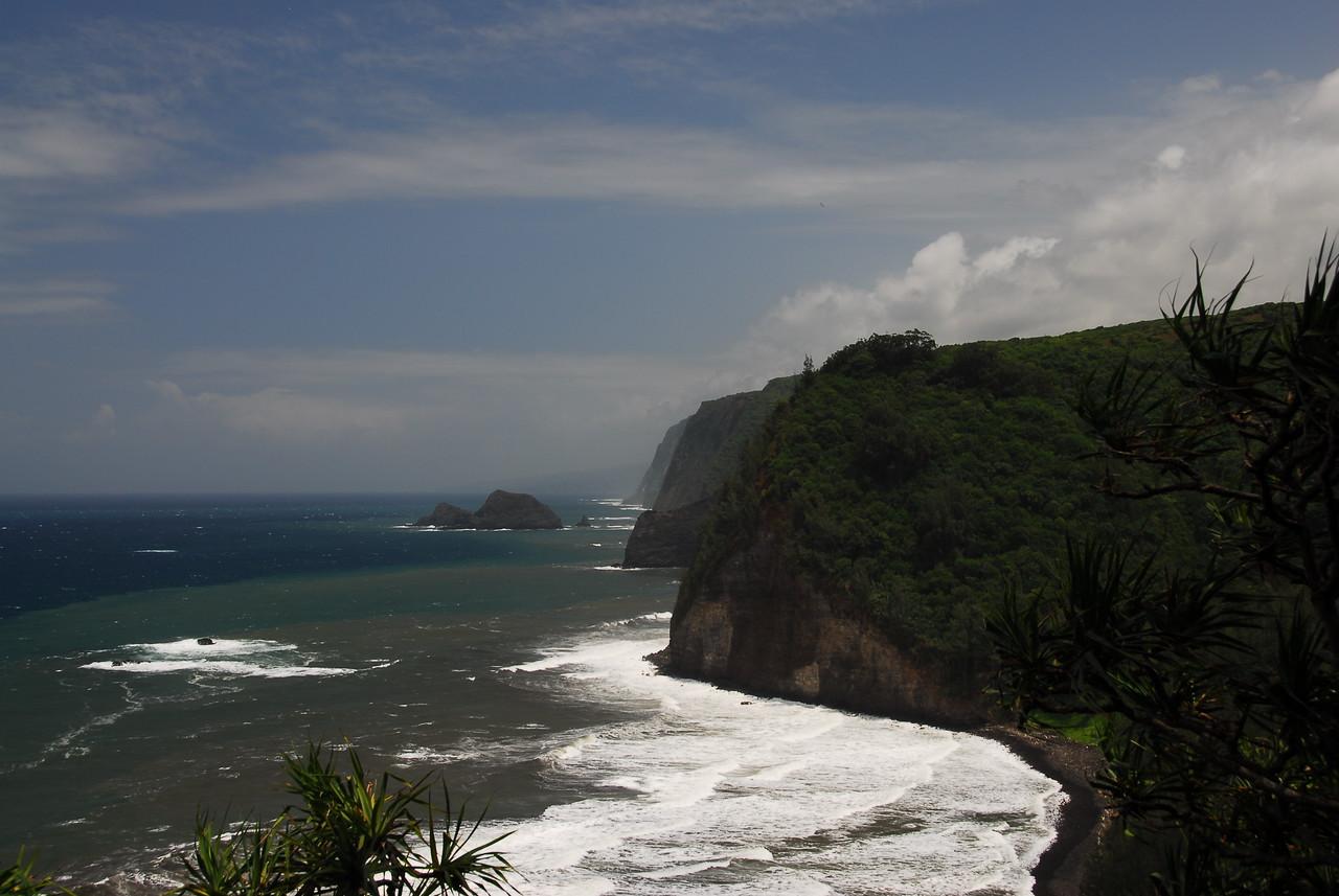 Coastal cliffs near Pololu Valley, Hawaii