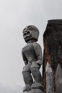 Wood carvings at Puʻukoholā Heiau National Historic Site, Hawaii