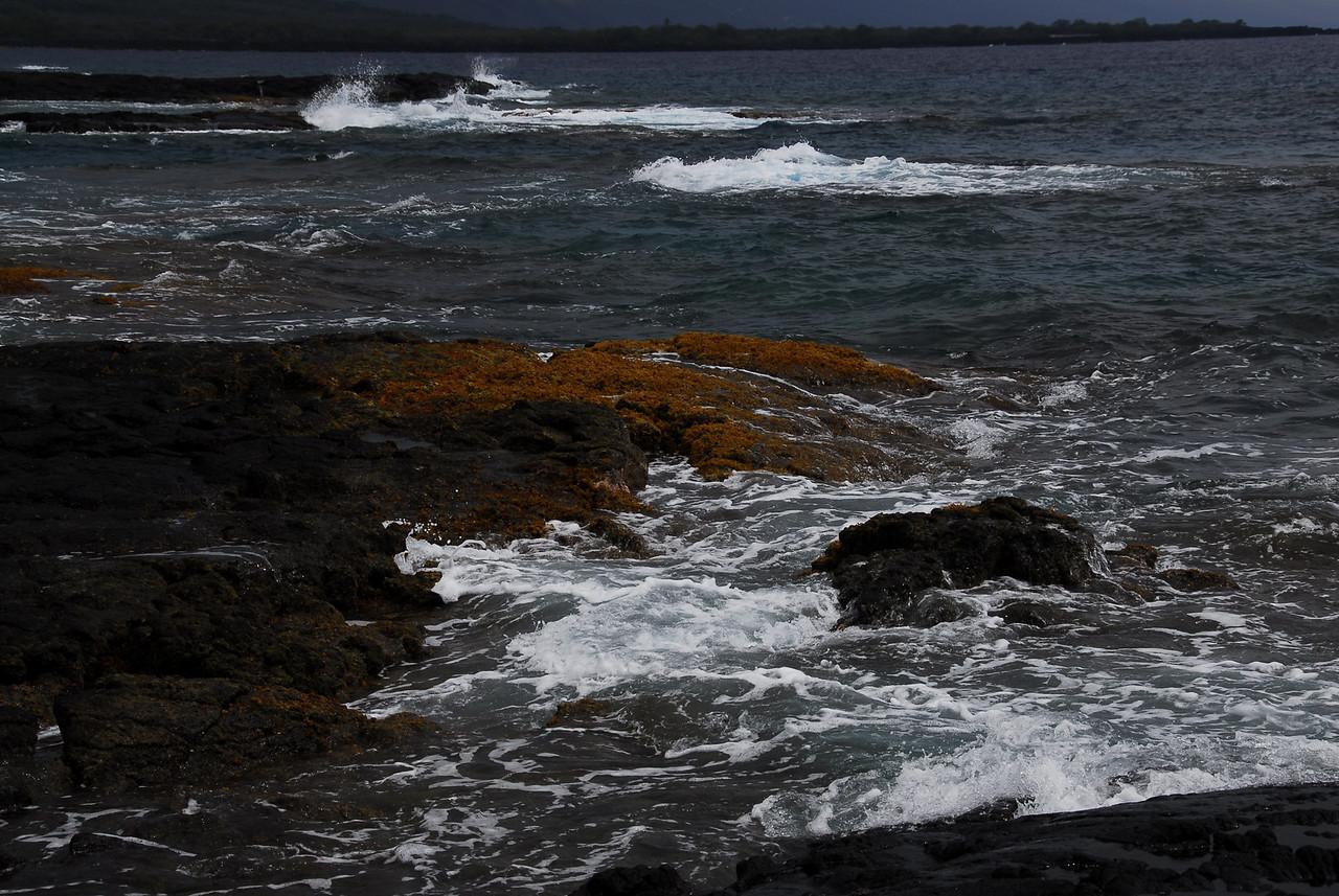 Rocky coastline at Puʻukoholā Heiau National Historic Site, Hawaii
