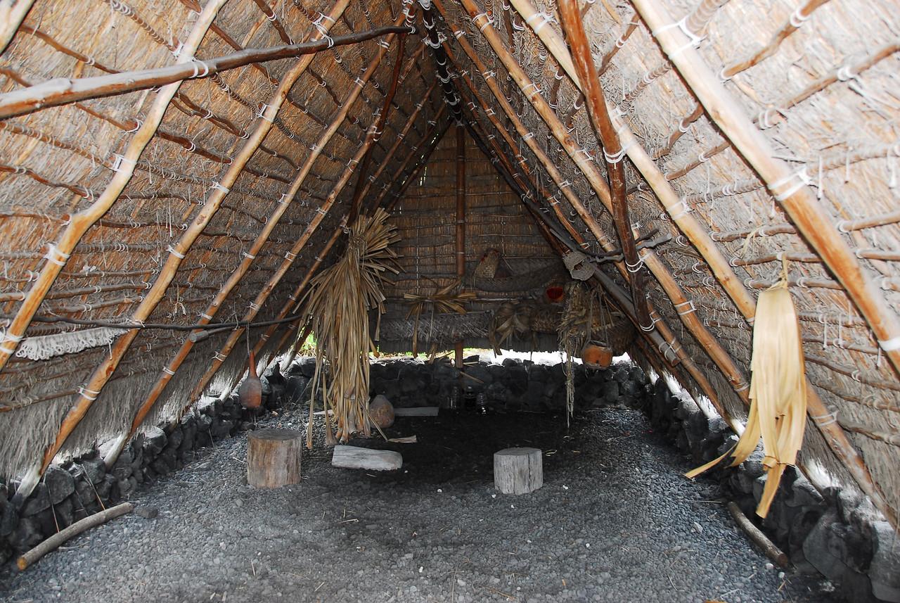Traditional huts in Puʻukoholā Heiau National Historic Site, Hawaii