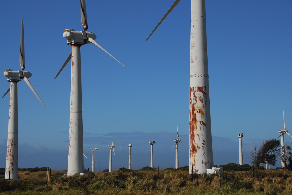 Abandoned wind farm, South Point, Hawaii