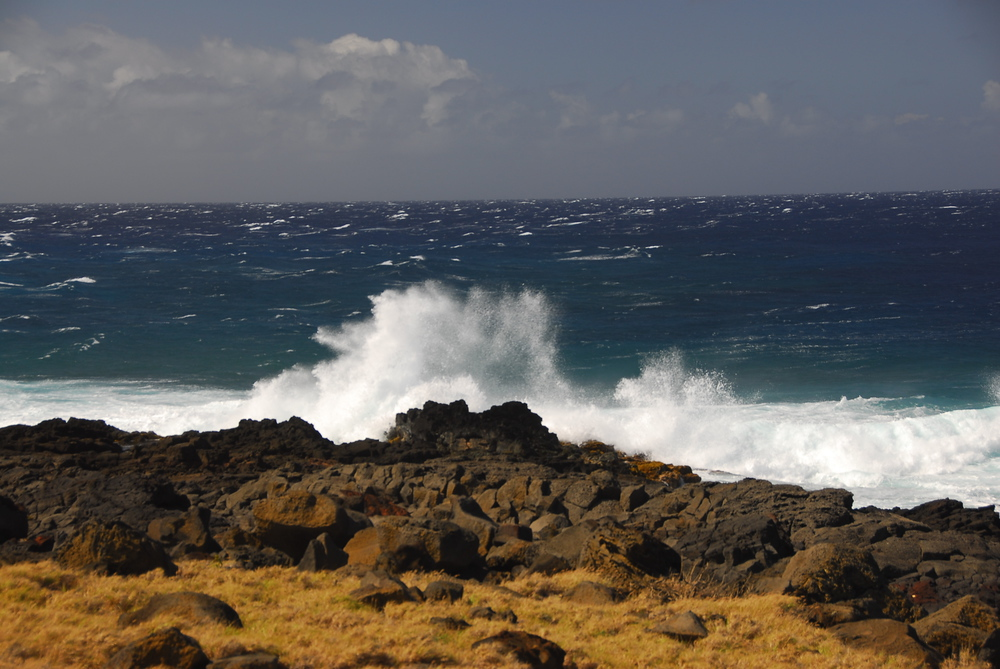 Waves Crashing on South Point, Hawaii