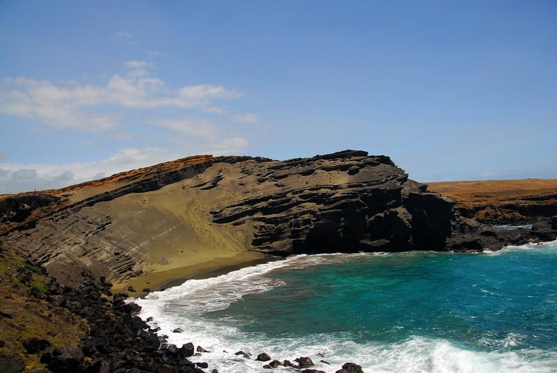 Green Sand Beach on the Island of Hawaii