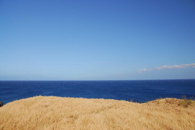 Ocean view at South Point, Hawaii