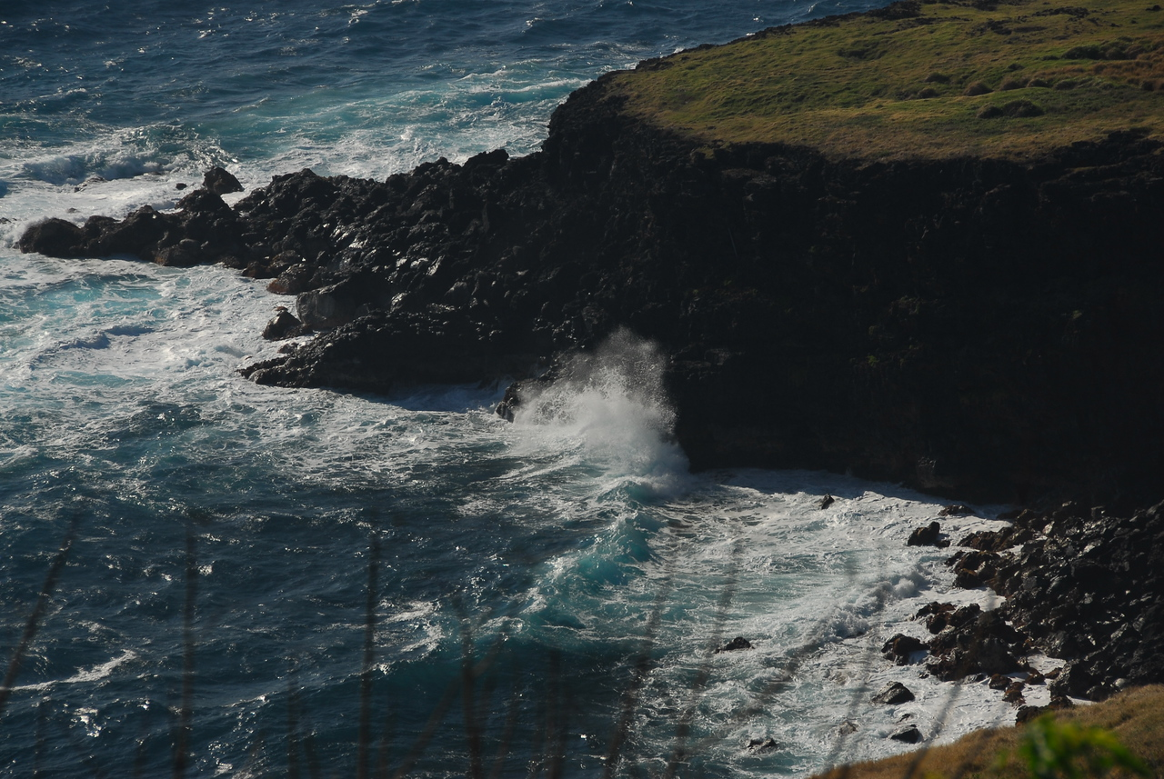Coastal cliffs in South Point, Hawaii