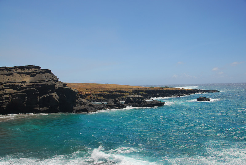 Coastal cliff in South Point, Hawaii