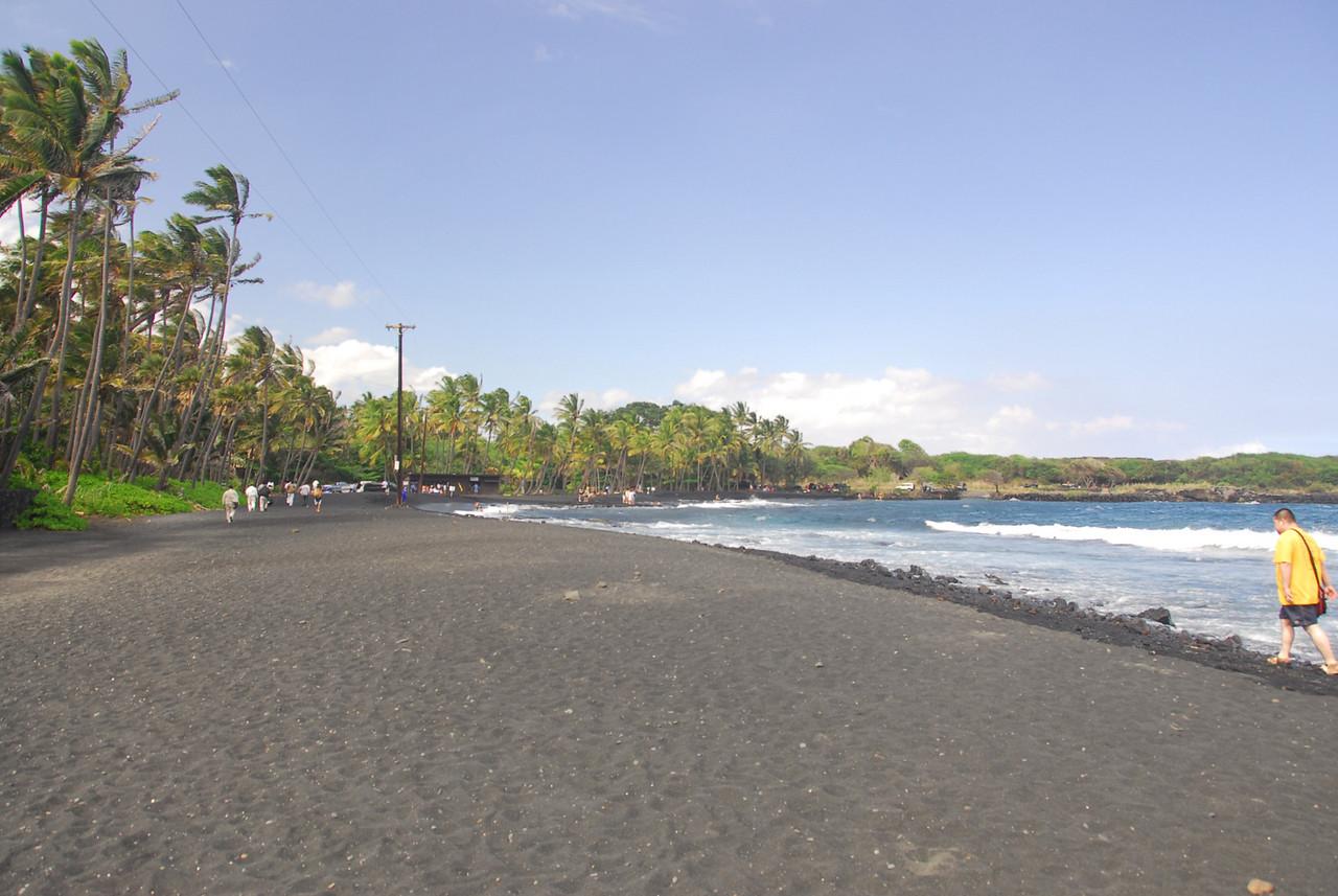 Beach in South Point, Hawaii