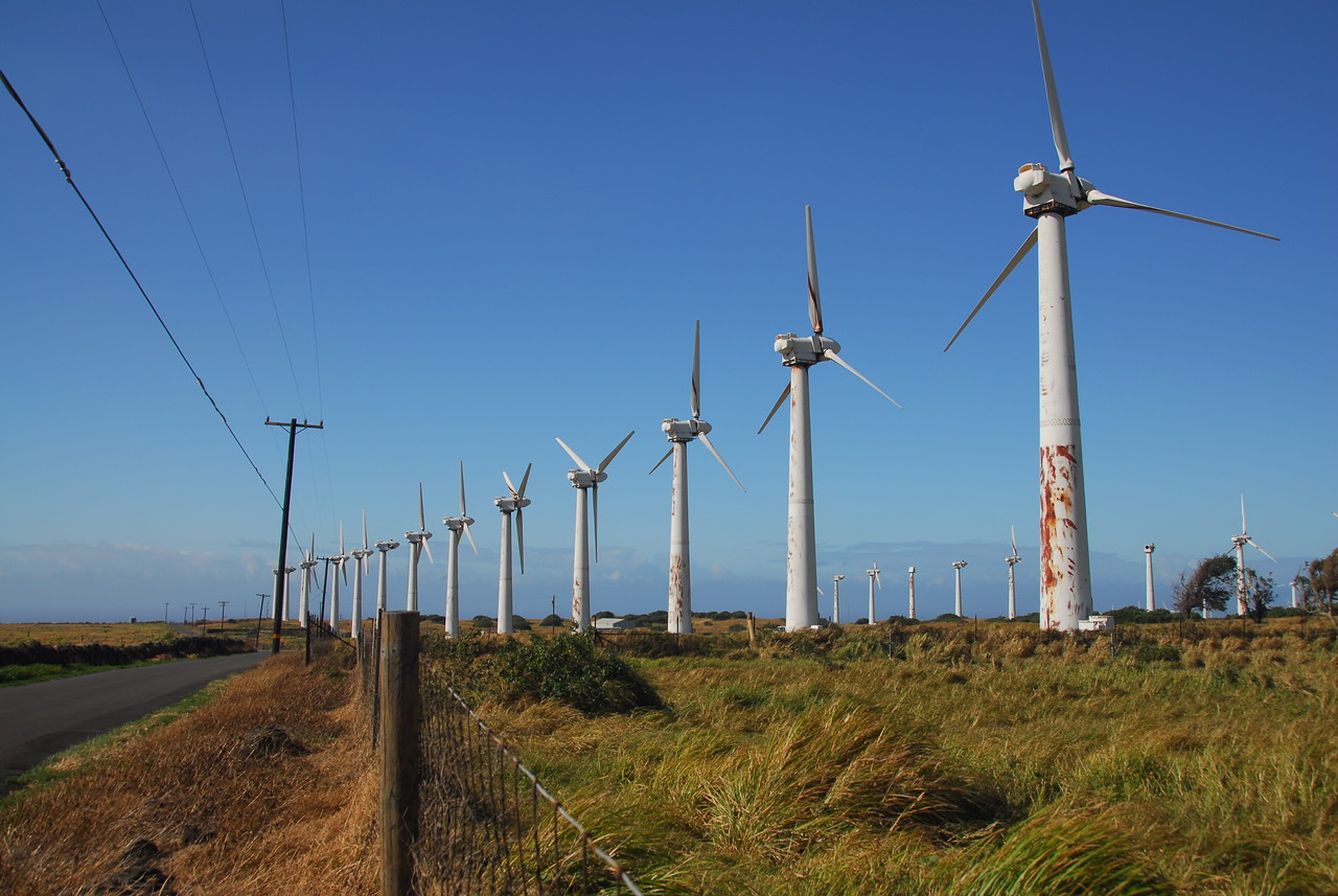 Windmills at South Point, Hawaii