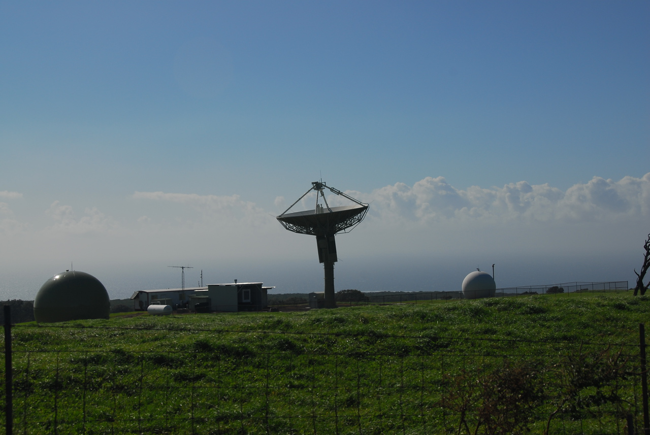 Satellite disk at South Point, Hawaii