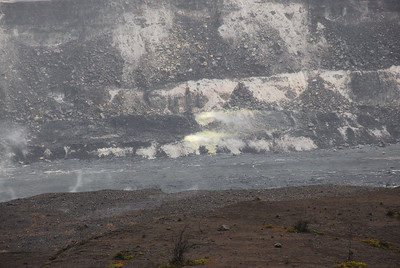 Volcanic landscape at Volcanoes National Park, Hawaii