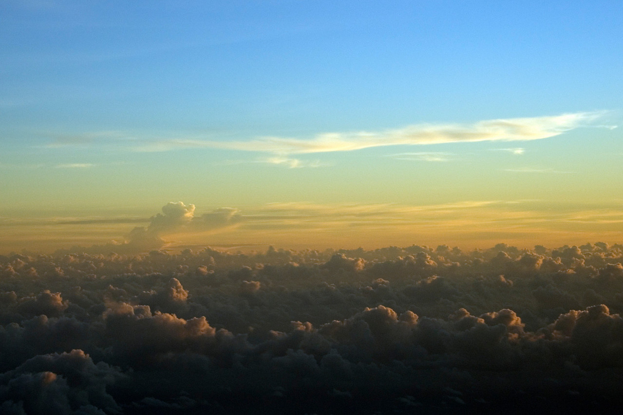 Sunrise Over the Pacific at 30,000 feet