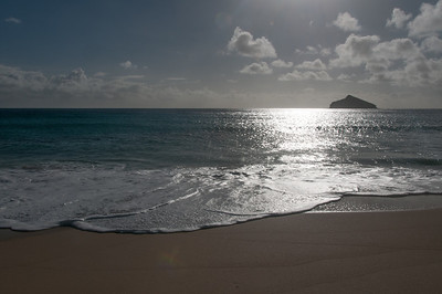 Beach at sunset in Lord Howe Island
