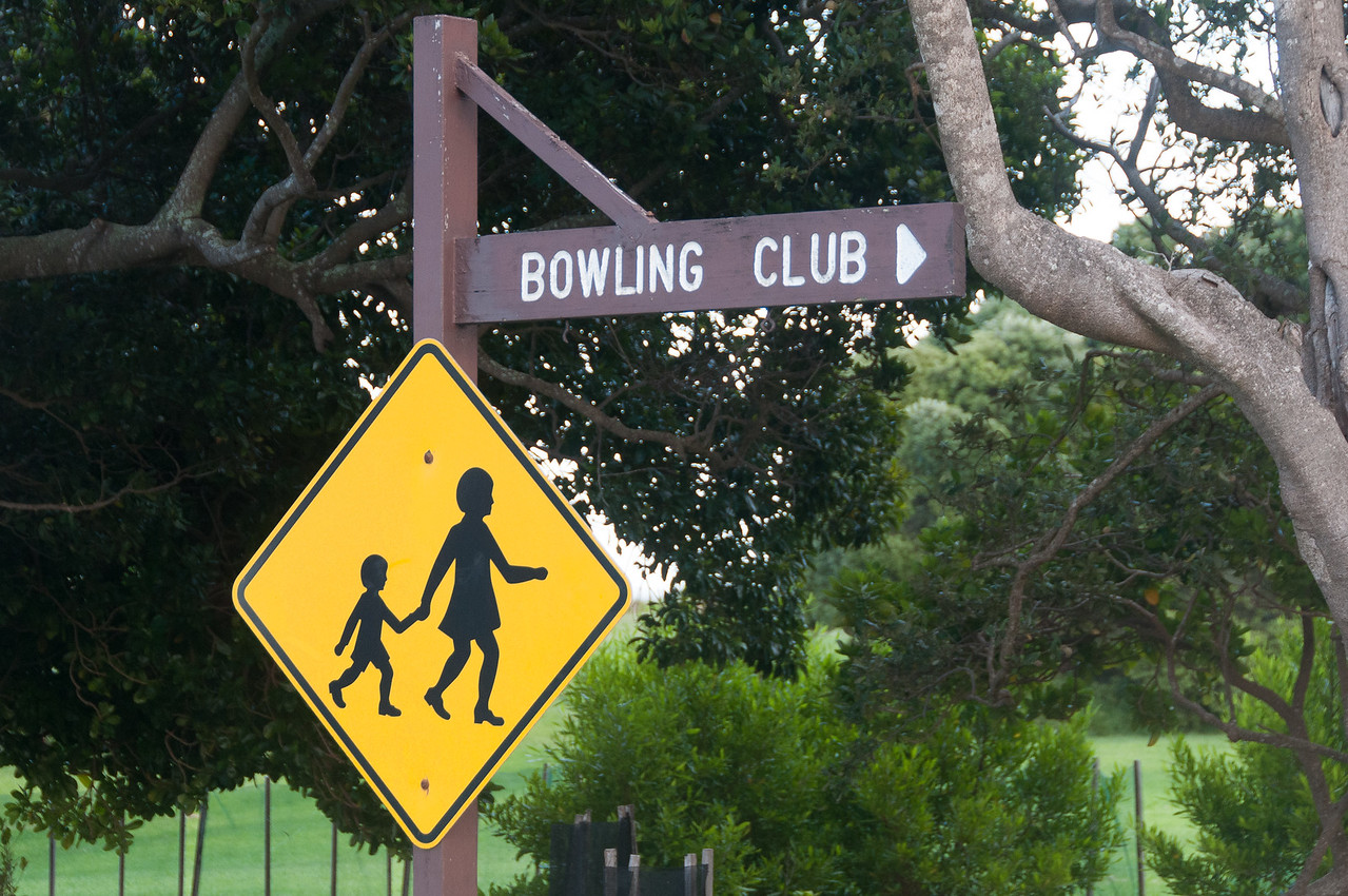 Sign to Bowling Club in Lord Howe Island