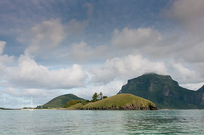 Seascape and Mt Gower in Lord Howe Island