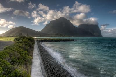 Paved path near the beach in Lord Howe Island