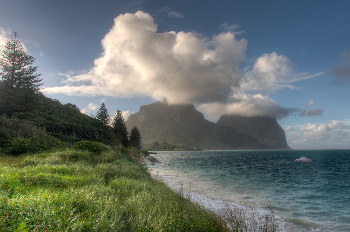 The Coast of Lord Howe Island, Australia